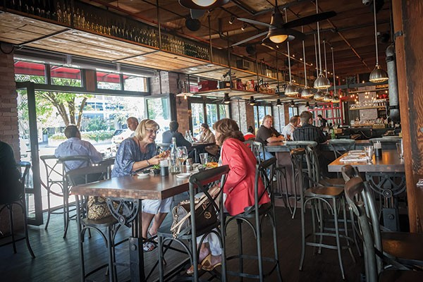 The airy Ten Penny dining room is a great spot for lunch Downtown