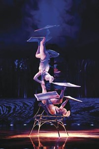 "The ""Crystal Ladies"" act in Cirque du Soleil's Totem."