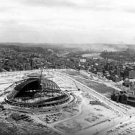 The arena under construction - CARNEGIE LIBRARY OF PITTSBURGH