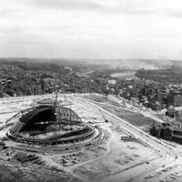 The arena under construction