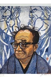 """The artist takes the foreground: Sekino Jun'ichirô's """"Portrait of Munataka Shikô"""" (1968)."""