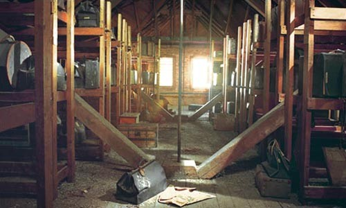 The attic at Willard Psychiatric Center