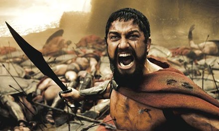 The battle -- and Leonidas (Gerard Butler) -- rages on.