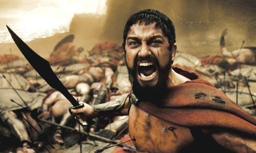 The battle -- and Leonidas (Gerard Butler) -- rages on.