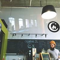 The Big East Barista Competition was projected live at Commonplace Voluto, in Garfield.