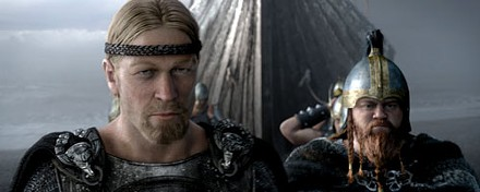 The blond leading the blond: Beowulf (right) and his second, Wiglauf, check out 6th-century Denmark.