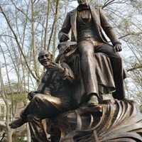 The city's most prominent memorial to Stephen Foster continues to offend many.
