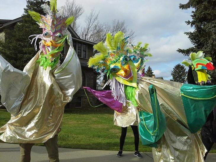 Cheryl Capezzuti's First Night parade puppets