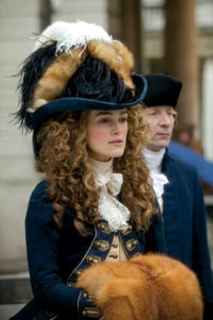 The Duchess (Keira Knightley): prettily dressed, but still shackled