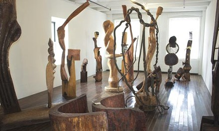 The fourth-floor gallery's share of Thaddeus Mosley: Sculpture (Studio/Home)