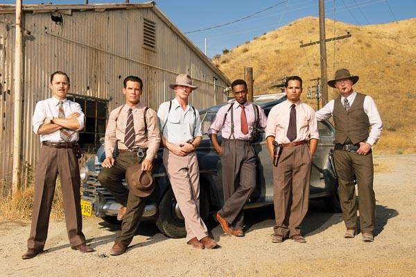 The gang's all here: Giovanni Ribisi, Josh Brolin, Ryan Gosling, Anthony Mackie, Michael Peña and Robert Patrick