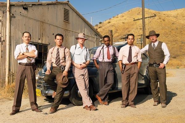 The gang's all here: Giovanni Ribisi, Josh Brolin, Ryan Gosling, Anthony Mackie, Michael Peña and Robert Patrick