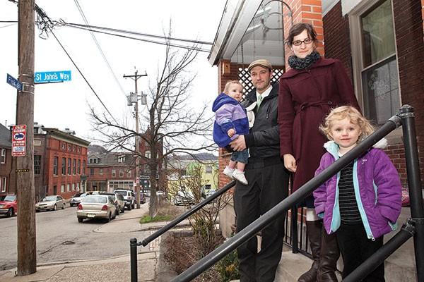 The Hydzik family, who live on Fisk Street, oppose the Thunderbird expansion