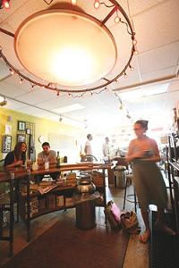 The interior of Affogato coffee bar - PHOTO: HEATHER MULL