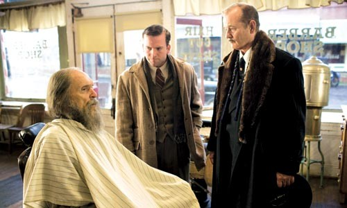 The low down: Robert Duvall, Lucas Black and Bill Murray plan a funeral party.
