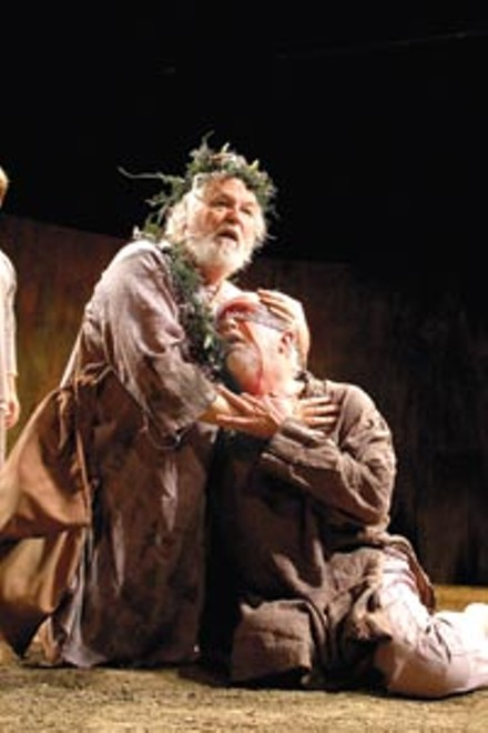 The mad and the blind: Dakin Matthews (left) and Larry John Meyers suffer fate's blows in PICT's King Lear. - COURTESY OF SUELLEN FITZSIMMONS