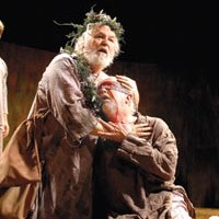 The mad and the blind: Dakin Matthews (left) and Larry John Meyers suffer fate's blows in PICT's King Lear.
