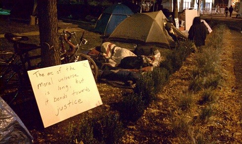 The message at the campsite - PHOTO BY LAUREN DALEY