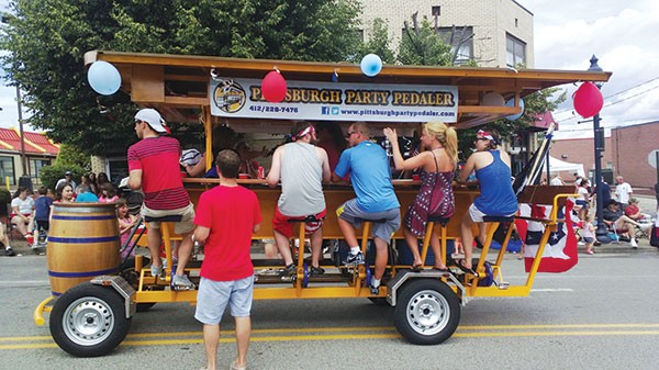 The Pittsburgh Party Pedaler at Brentwood's Fourth of July Parade