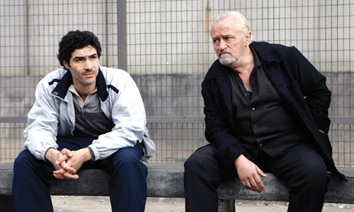 The punk meets the godfather: Malik (Tahar Rahim) and Csar (Niels Arestrup)