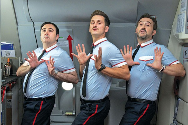 The singing stewards of Almodovar Airlines