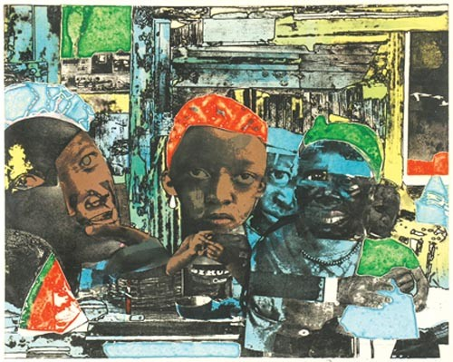 """The Train"" - BY ROMARE BEARDEN"