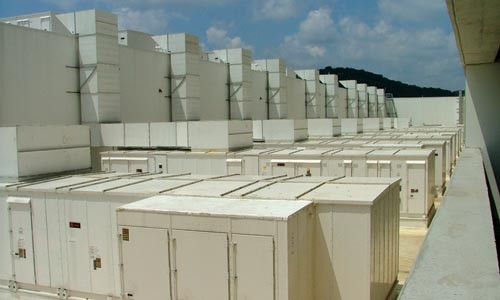 These units swap out the air inside the casino for fresh air every 12 minutes. - CHARLIE DEITCH