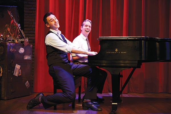 They done it: Joe Kinosian and Ian Lowe in CLO Cabaret's Murder for Two
