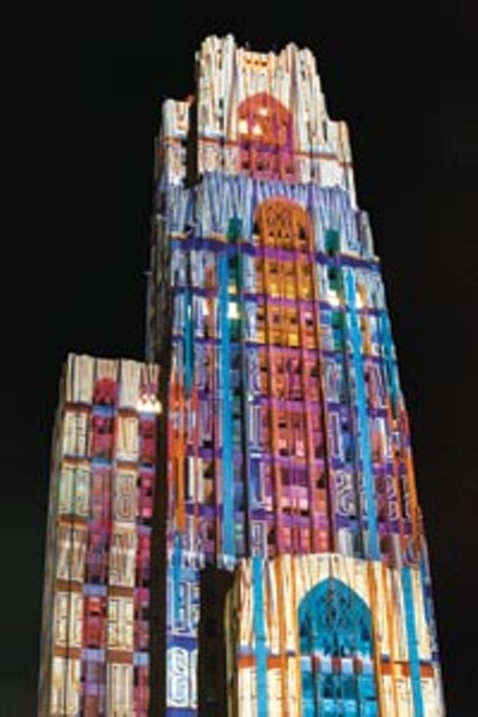 They're projecting: Friedrich Frster and Sabine Weissinger's lighting design for the Cathedral of Learning.