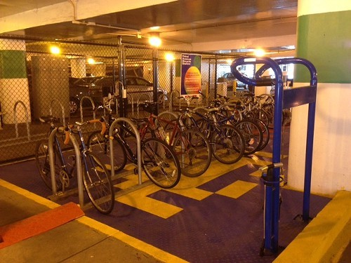 Third Avenue Bike Stations fix-it area