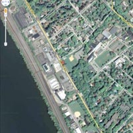 This Google Maps satellite image shows the location of the crash.