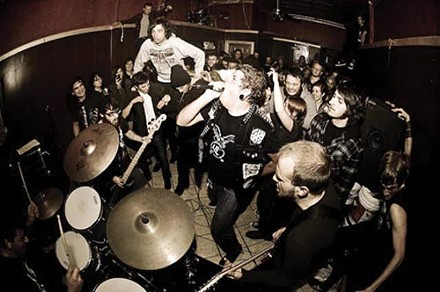 This is not a drone band: Heartless (singer Cory Smith, center). - PHOTO COURTESY OF TANNER DOUGLASS