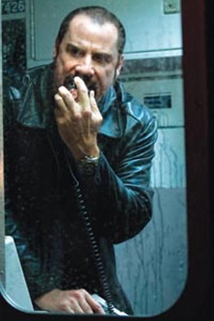"""This train is mine!"" John Travolta as Ryder"