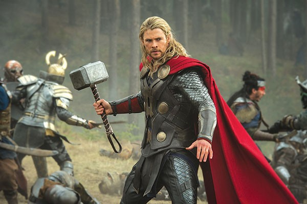 Thor (Chris Hemsworth) and his trusty hammer