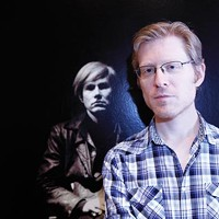 Though not yet in costume, Broadway star Anthony Rapp works on his noncommital gaze as he prepares to play Andy Warhol in <i>POP!</i>, a new musical at City Theatre