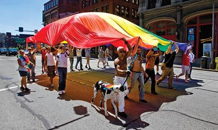 Thousands packed Downtown June 22 for the city's expanded PrideMarch. - DEMIAN ASPINWALL