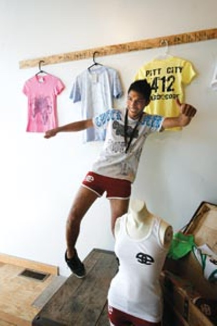 Thready or not: Jamal Krolowitz gets down at his Tweek clothing boutique.