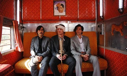 Three of a kind: Jason Schwartzman, Owen Wilson and Adrien Brody aboard The Darjeeling Limited