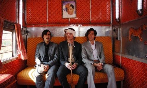 Three of a kind: Jason Schwartzman, Owen Wilson and Adrien Brody aboard The Darjeeling Limited