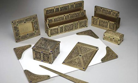 Tiffany Studio's Ninth Century desk set (c. 1908): the perfect complement to any desk