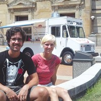 Tim Tobitsch and Megan Lindsey, owners of the Franktuary Truck, a pioneer in the local food-truck industry.