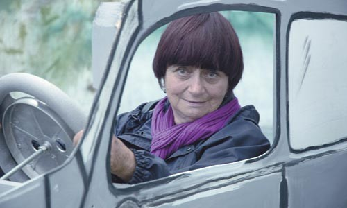 Time traveler: Agns Varda, in the driver's seat of her own bio-pic