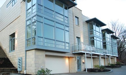 To see from and be seen: The Windom Hill Place townhouses on the South Side Slopes. Photo courtesy of Sota Construction