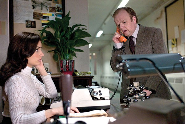 Toby Jones (right) can't get anyone to listen.