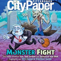 Tom Corbett Illustrated: A history of Cartoon Corbett on the cover of City Paper