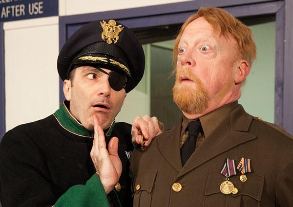 Tony Bingham (left) and Weston Blakesley in Quantum's Pantagleize