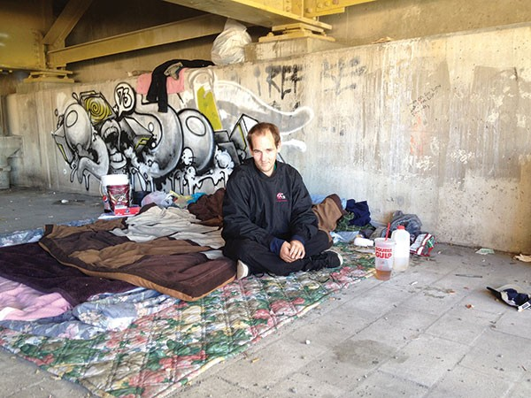 Tony Ferguson relocated to under Bigelow Boulevard after being evicted from a North Side encampment.