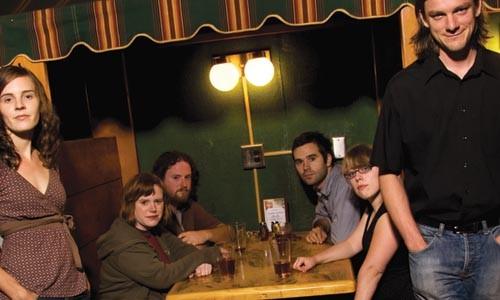 Transforming into beasts: Boca Chica (Susanna Meyer, Megan Williams, Jeremy Cooper, Greg Dutton, Hallie Pritts and Matt Miller, from left). - PHOTO: BRIAN KALDORF
