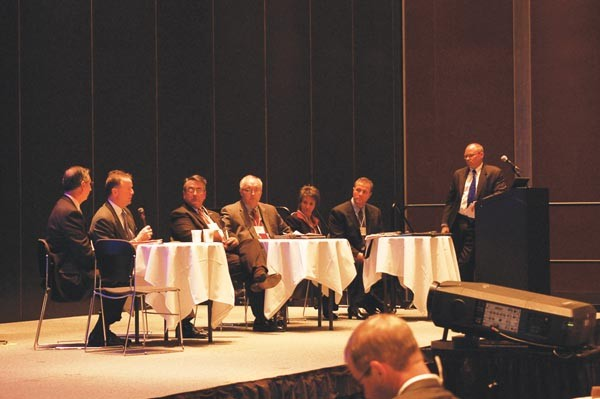 Transportation experts have a panel discussion at the Southwestern Pennsylvania Smart Growth Conference.