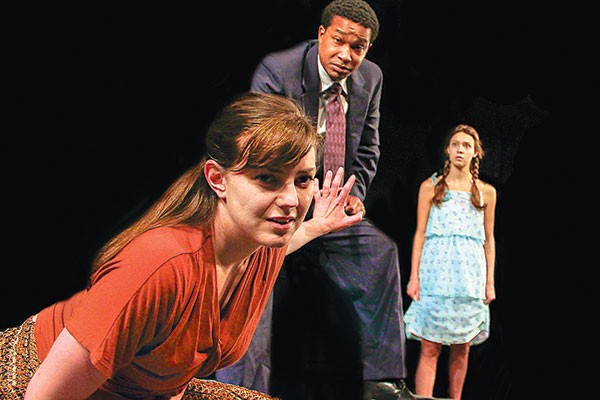 Tressa Glover, Cameron Knight and Colleen Pulawski in Oedipus and the Foul Mess in Thebes.